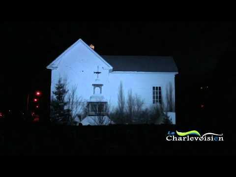 L'église de Saint-Joseph-de-la-Rive transformée en écran de cinéma !