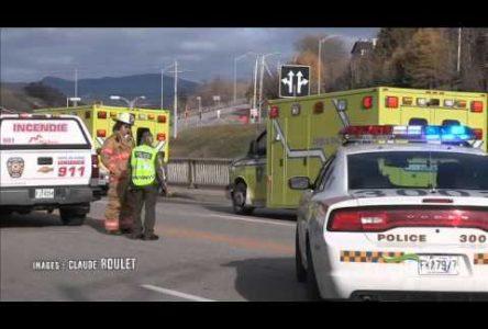 Une collision entre deux voitures a fait deux blessés mineurs