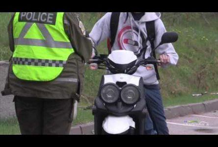 Opération de sensibilisation pour les conducteurs d'un cyclomoteur