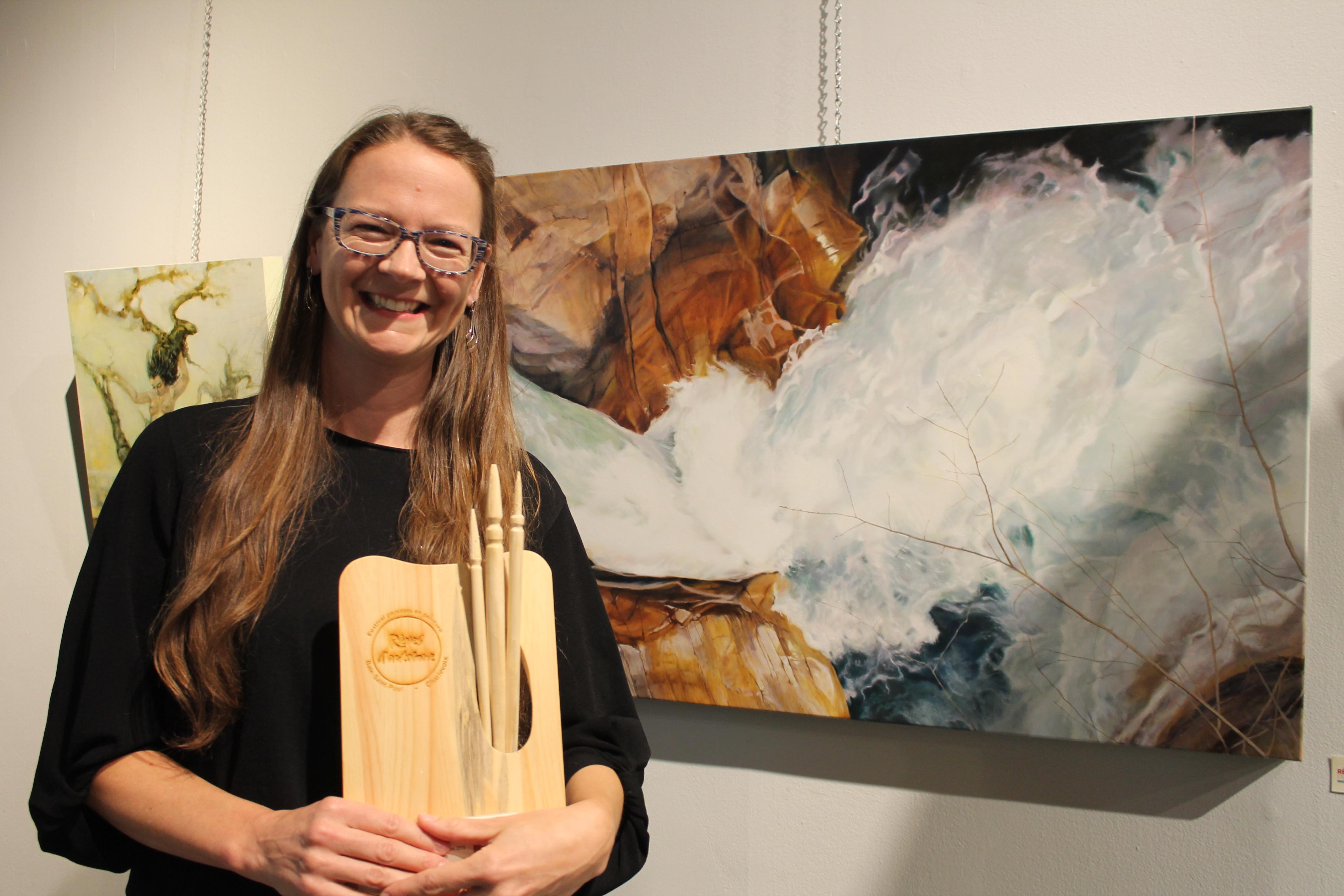 Concours national de peinture: les lauréats sous les projecteurs