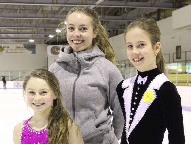 Trois patineuses font honneur à la région