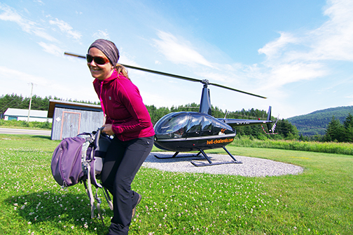 Rando héliportée sur le pourtour du cratère de Charlevoix!