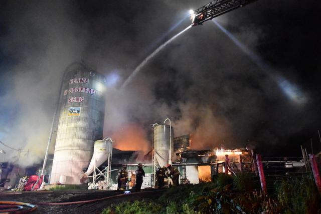 Ferme du Gouffre: des flammes, des larmes… et de l'espoir