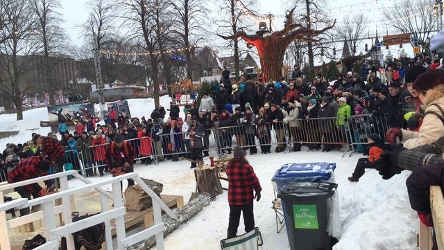 Nos bûcherons démontrent leur talent au Carnaval de Québec