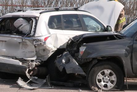 Accident majeur impliquant trois voitures à La Malbaie