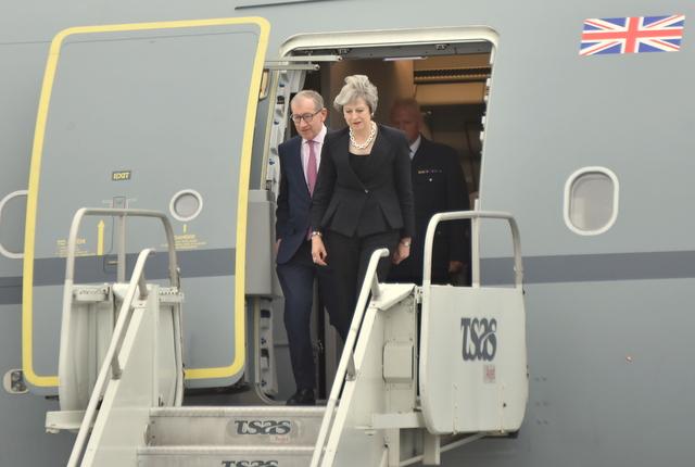 Theresa May est arrivée