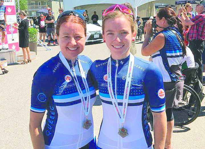 Annie Bouchard et Évelyne Tremblay en paracyclisme
