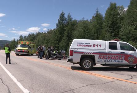 Un accident de la route impliquant une voiture et une moto fait un blessé