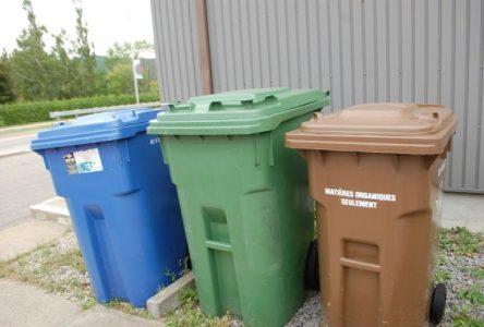 Le bac brun donne de bons résultats dans les foyers de Charlevoix-Ouest