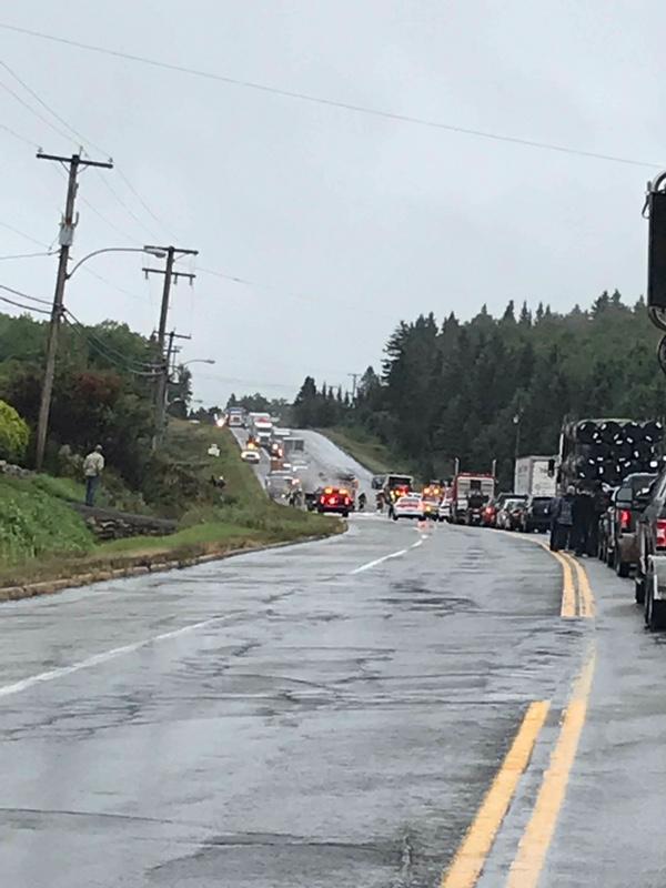 La route 138 fermée à Saint-Joachim à cause d'un grave accident