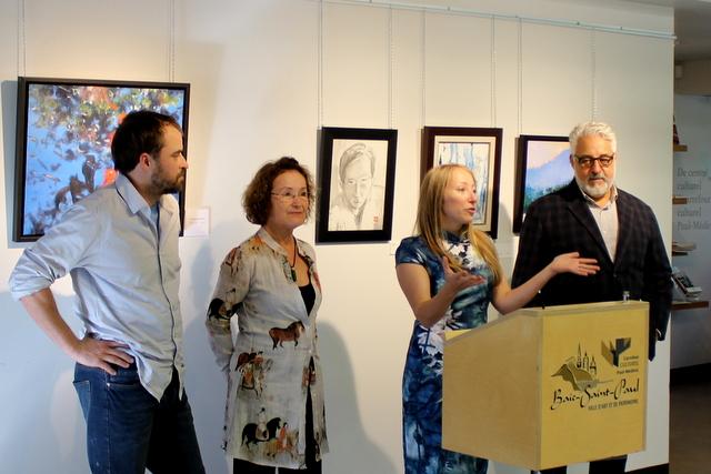 Vernissage de trois expositions au Carrefour culturel Paul-Médéric
