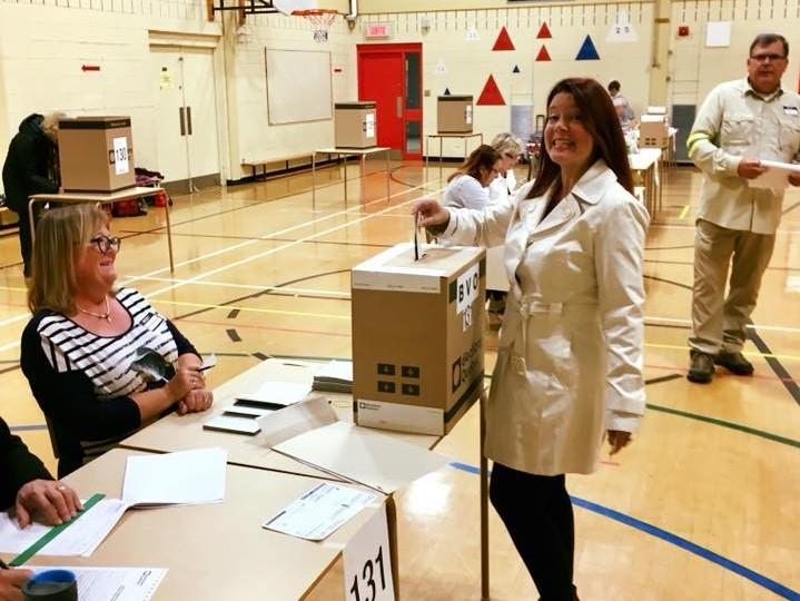 Nathalie Leclerc a voté