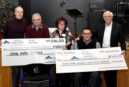5 000 $ pour l'Association des personnes handicapées de Charlevoix