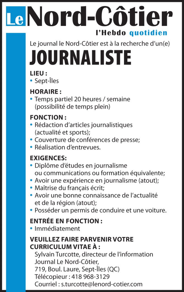 Journal Le Nord-Côtier