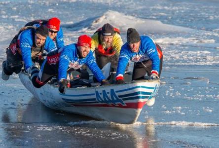Un vent de jeunesse souffle sur l'équipage du canot à glace Amiral Agence Web/Pharmacie Marie-Pier Labbé