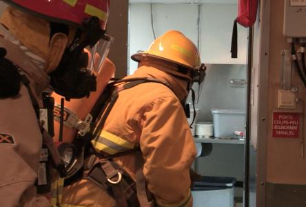 Simulation d'incendie à la Traverse Rivière-du-Loup/Saint-Siméon