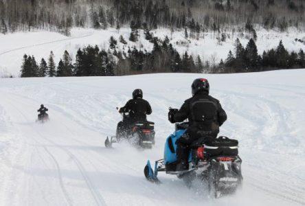 Moins de motoneigistes auraient visité la région de Charlevoix en janvier