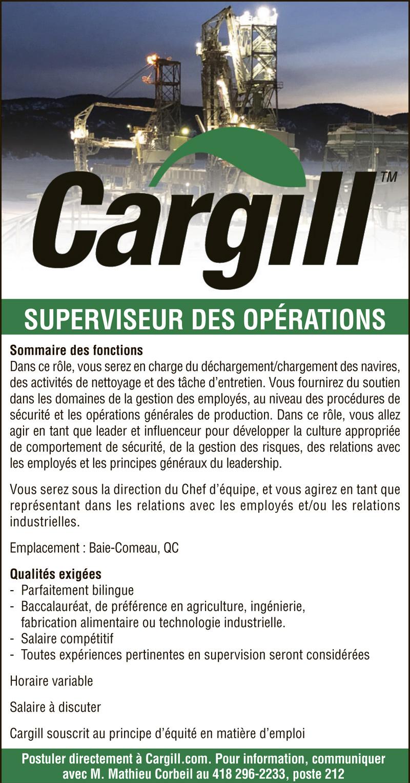 Logo de SUPERVISEUR DES OPÉRATIONS