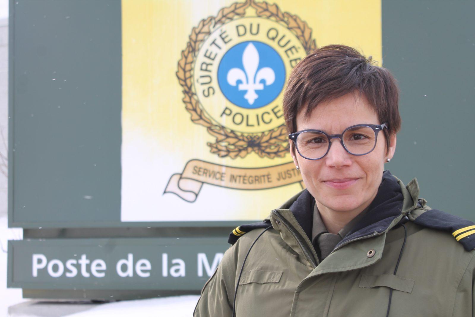 Nadia Lavoie, nouvelle responsable du poste de la Sûreté du Québec à Baie-Saint-Paul