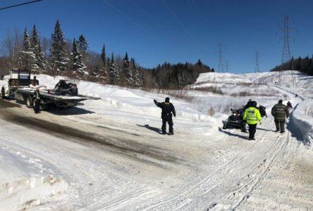 Sûreté du Québec : les motoneigistes-patrouilleurs ont mené plusieurs opérations