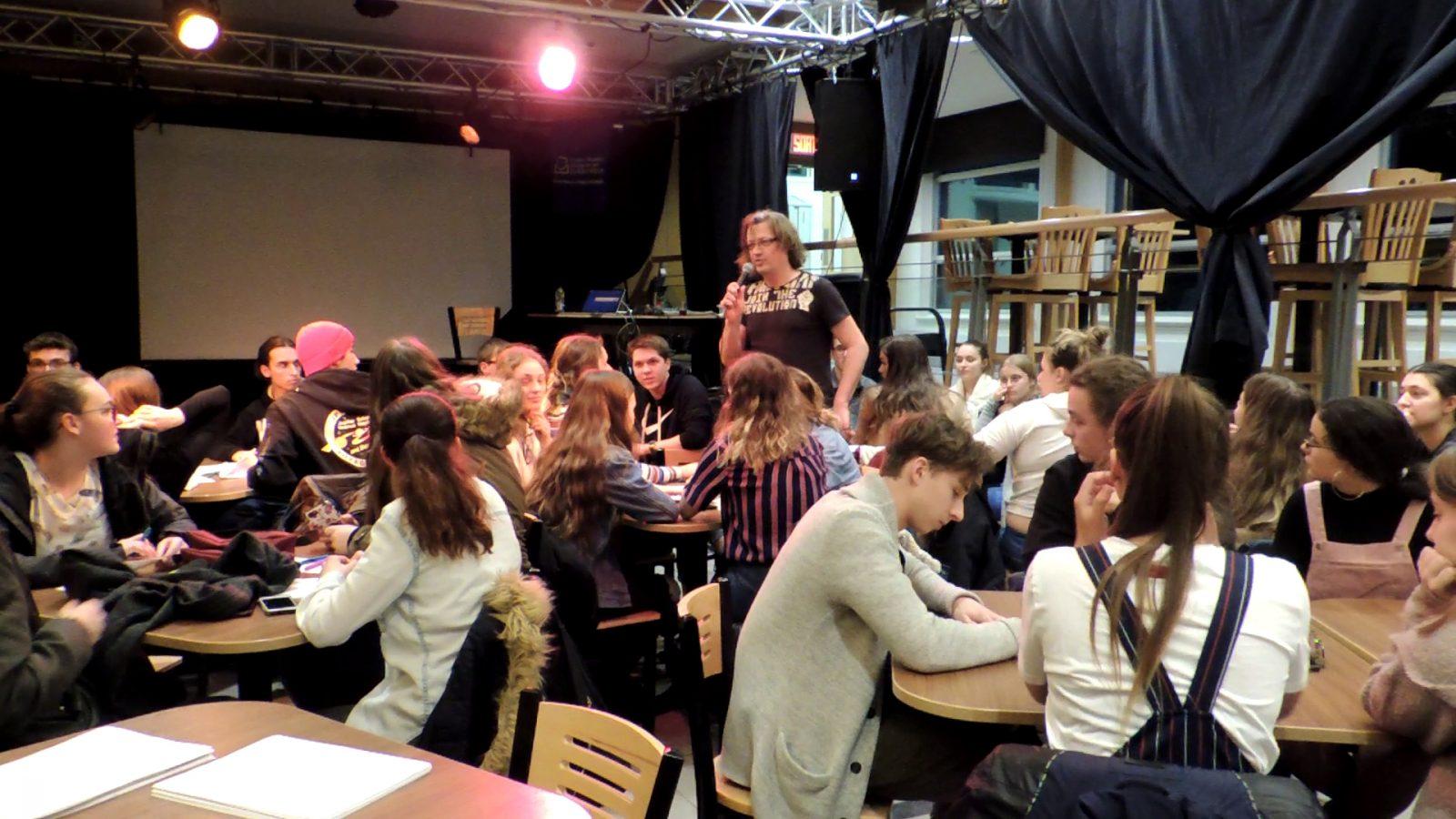 Un Cabaret littéraire avec Ivy et Valérie Harvey au cégep de La Malbaie