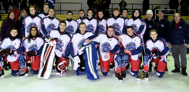 Les Rorquals Pointo du midget A gagnent le championnat à St-Ambroise