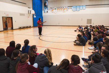 Le Centre éducatif Saint-Aubin accueille Gabrielle Shonk