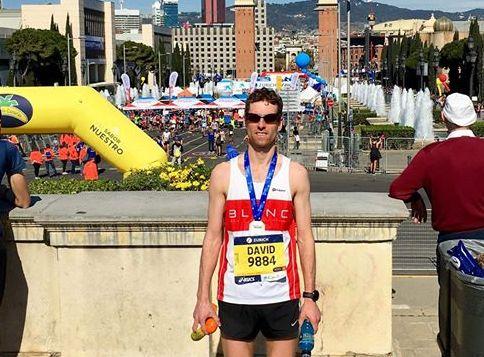 David Savard-Gagnon au marathon de Barcelone