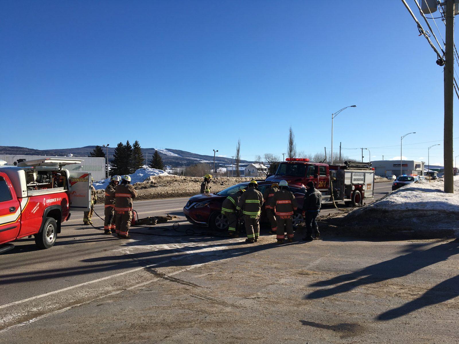 Une deuxième collision s'est produite à Saint-Siméon