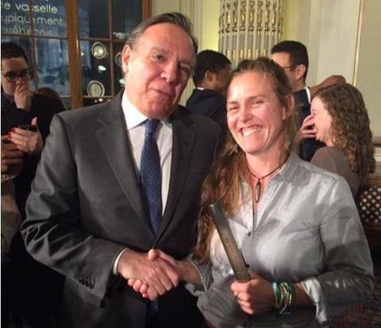 Valérie Boulet reçoit un prix Reconnaissance Jeunesse