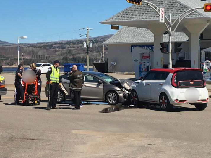 Accident impliquant deux voitures à La Malbaie