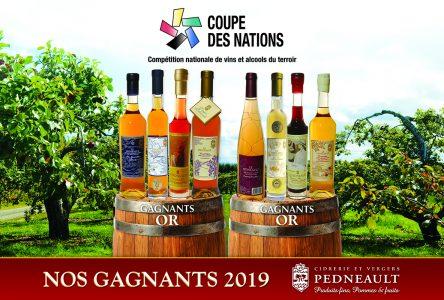 La Cidrerie et Vergers Pedneault remporte huit médailles d'or à la Coupe des Nations 2019