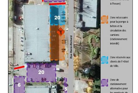 Le stationnement de l'hôtel de ville de Baie-Saint-Paul sera perturbé le 20 juin