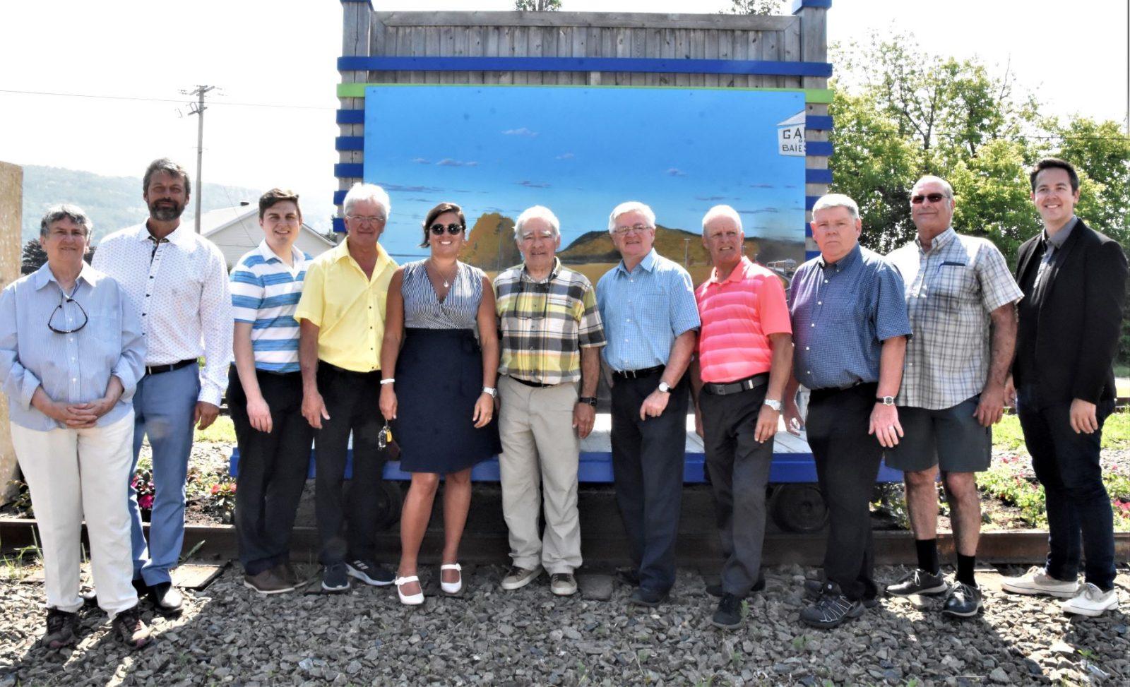 Inauguration du panneau hommage à l'ancienne gare de Baie-Saint-Paul (vidéos)