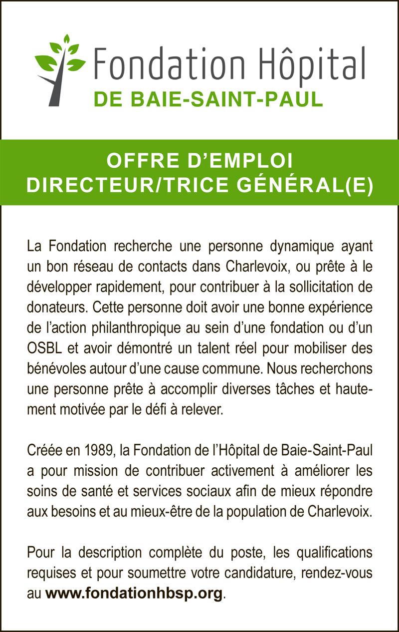 DIRECTEUR/TRICE GÉNÉRAL(E)