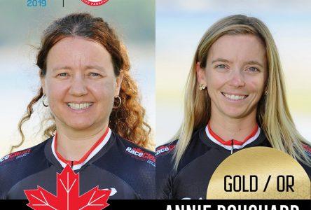 L'or à la course de 1000 mètres pour Annie Bouchard et Évelyne Gagnon