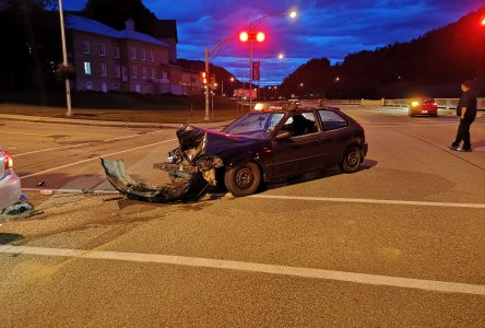 Accident sur le Boulevard de Comporté La Malbaie