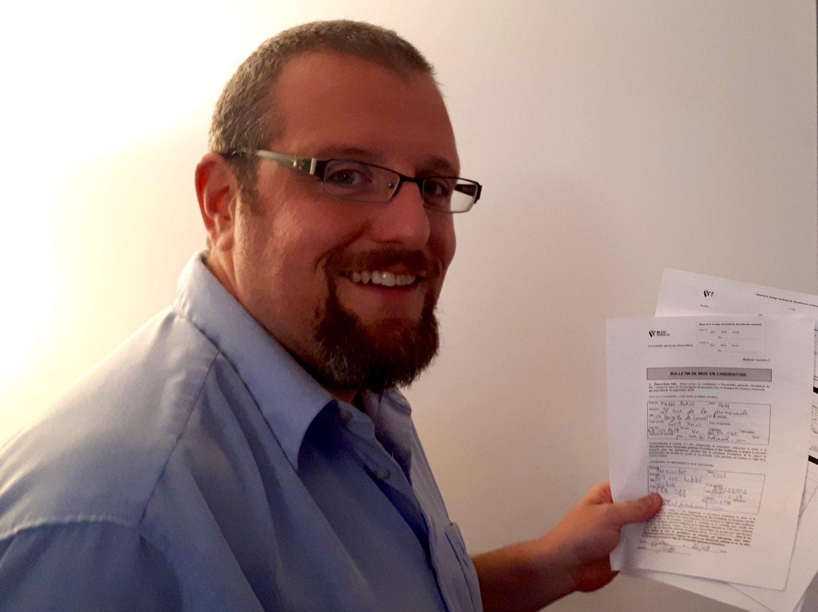 Candidature officialisée pour Pierre-Alain Hoh