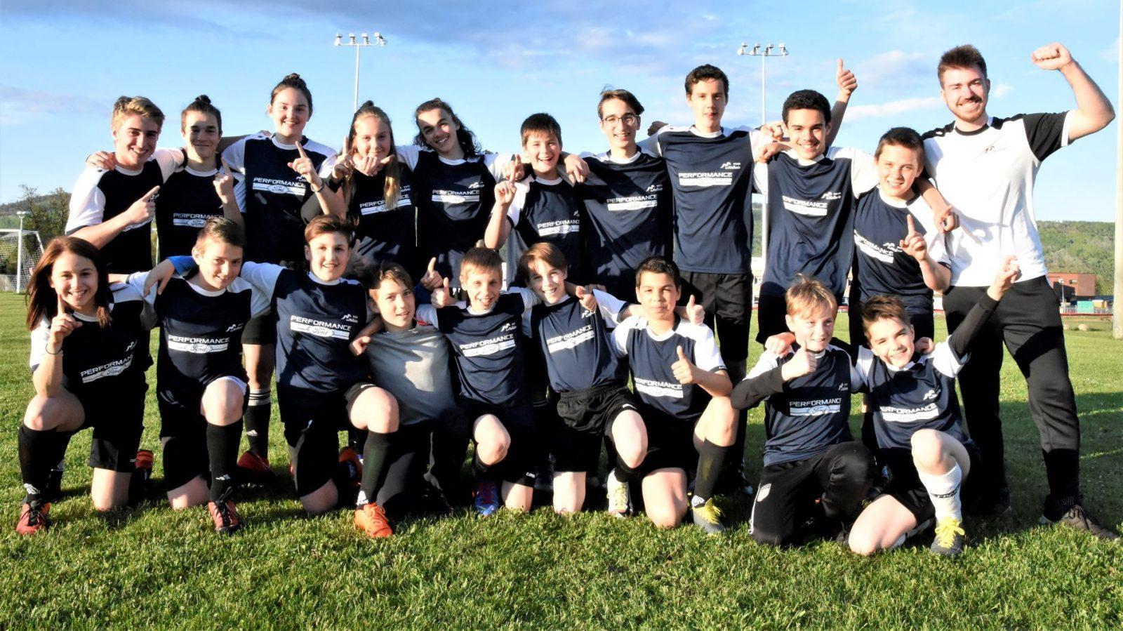 Soccer : Performance Ford U14 obtient le 2e rang du classement