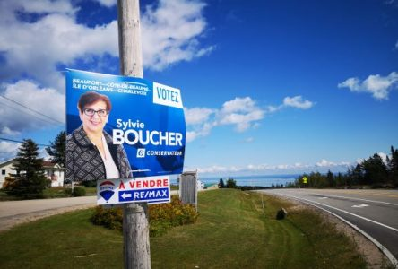 Sylvie Boucher est la première à s'afficher dans Charlevoix