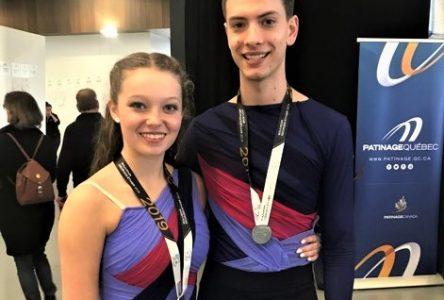 Médaille d'argent pour Olivia et Émile