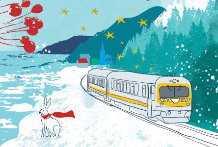 Train de Charlevoix : déjà 600 embarquements pour le marché de Noël