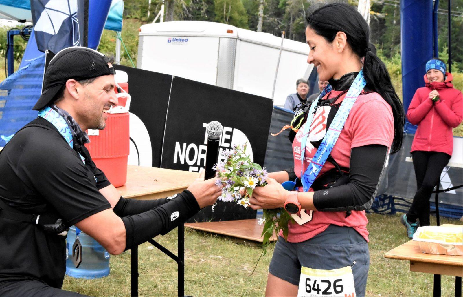 Ultra-Trail Harricana: une demande en mariage… après avoir couru 65km