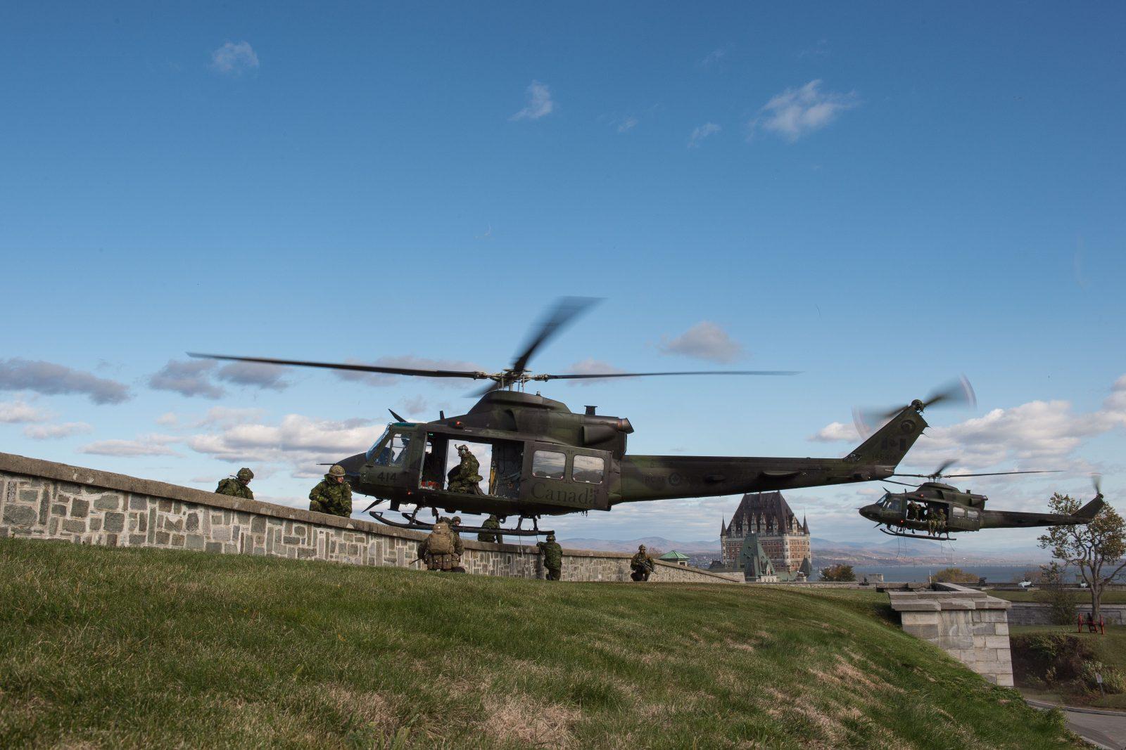 Exercices militaires dans la région