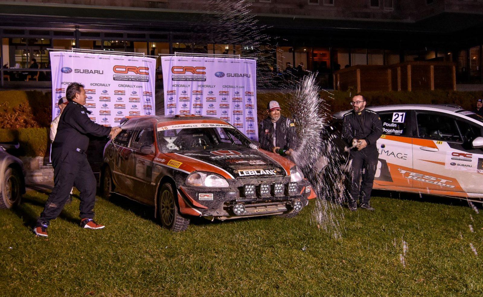 Rallye de Charlevoix: les deux équipes de la région montent sur le podium