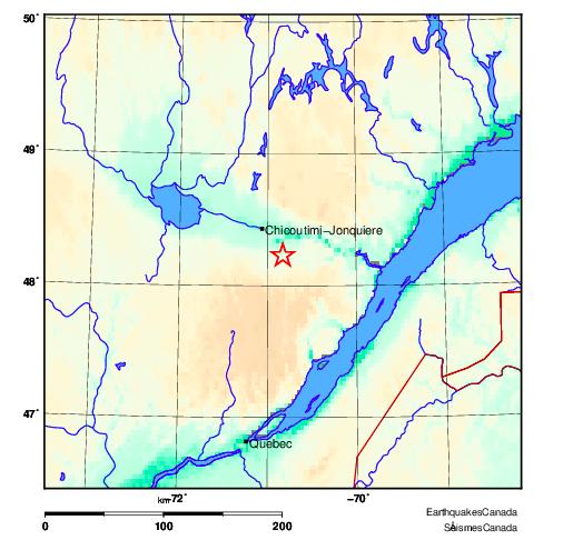Un séisme en provenance du Saguenay ressenti dans Charlevoix