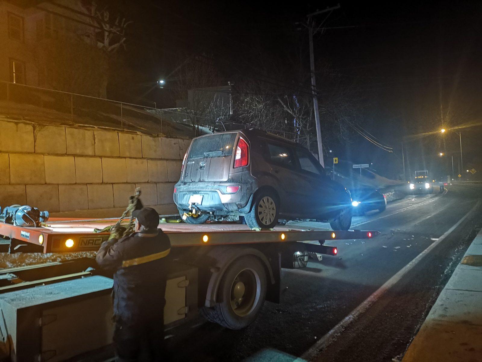 Trois véhicules impliqués dans une collision à Rivière-Malbaie