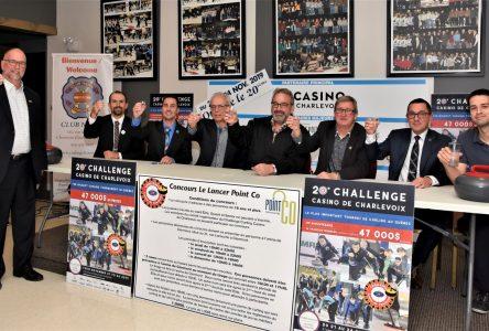 Curling: plus de 300 joueurs attendus pour la 20e édition du Challenge Casino de Charlevoix