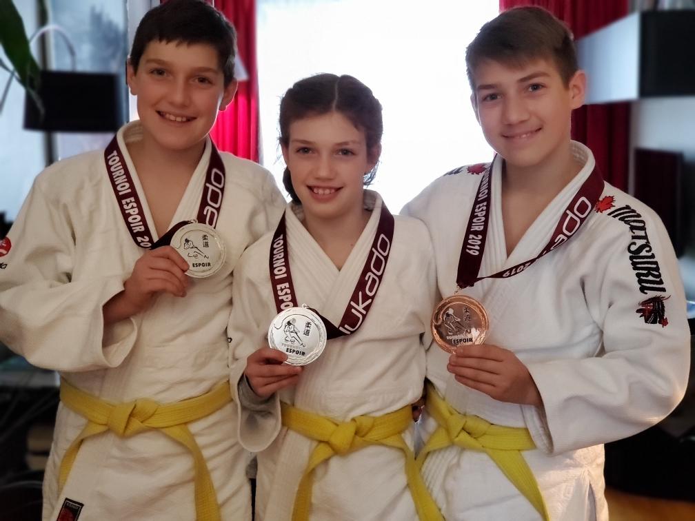 Trois médailles à Montréal pour le club de judo Sakura