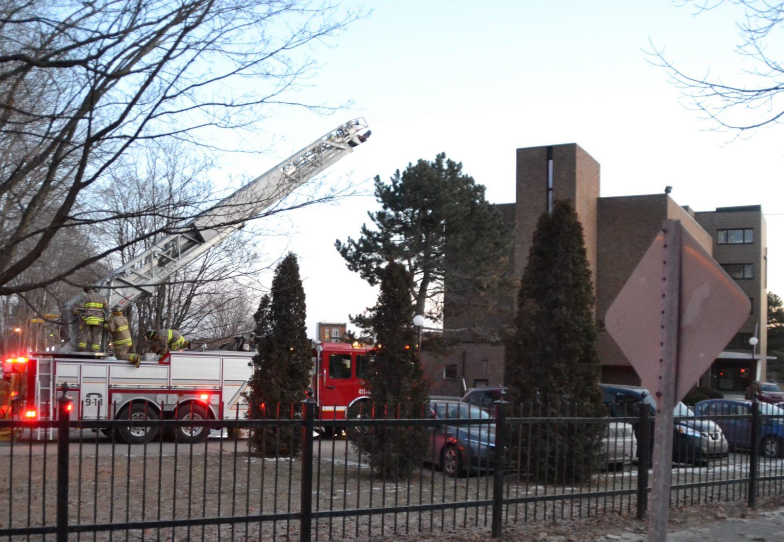 Un incendie s'est déclaré à l'ancienne infirmerie des PFM